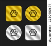 pawprint gold and silver...