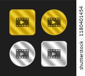 film strip gold and silver...