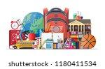 big school set. different... | Shutterstock . vector #1180411534