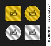 xml file format symbol gold and ...