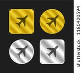 airplane gold and silver...