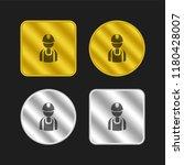 handy man worker silhouette...