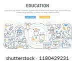 linear banner of education.... | Shutterstock .eps vector #1180429231