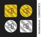 sound hand drawn symbol gold...