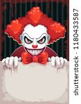 creepy circus poster. scary... | Shutterstock .eps vector #1180433587