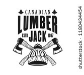 lumberjack emblem with two...   Shutterstock .eps vector #1180434454