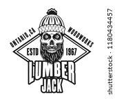 lumberman bearded skull and...   Shutterstock .eps vector #1180434457