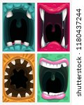 scary monster mouth. vector... | Shutterstock .eps vector #1180437244