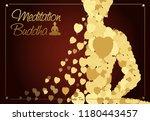 meditation is one practice in...   Shutterstock .eps vector #1180443457