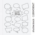 set of empty comic speech... | Shutterstock .eps vector #1180458067