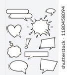 set of empty comic speech... | Shutterstock .eps vector #1180458094