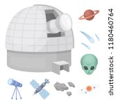 space technology cartoon icons... | Shutterstock .eps vector #1180460764