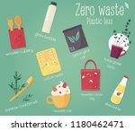 zero waste concept design with... | Shutterstock .eps vector #1180462471