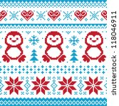 christmas and winter knitted... | Shutterstock .eps vector #118046911