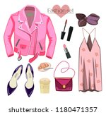 fashion set in a style flat... | Shutterstock .eps vector #1180471357