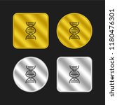dna hand drawn symbol gold and...