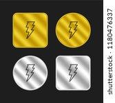 thunder bolt hand drawn outline ...