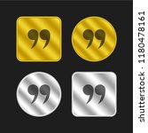 right quotes symbol gold and...