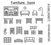 furniture   home decorate items ... | Shutterstock .eps vector #1180478914