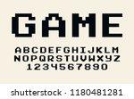 pixel retro font video computer ... | Shutterstock .eps vector #1180481281