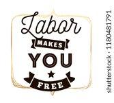 happy labor day. vector logo.... | Shutterstock .eps vector #1180481791