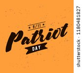 patriot day. 11th of september. ... | Shutterstock .eps vector #1180481827