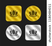 lotus gold and silver metallic...