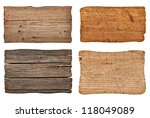 collection of various  empty... | Shutterstock . vector #118049089