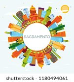 sacramento usa city skyline... | Shutterstock . vector #1180494061