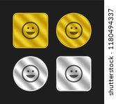 emoticon square smile gold and...
