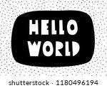 typographic design poster... | Shutterstock .eps vector #1180496194