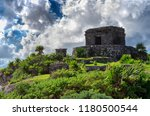 tulum is the site of a pre... | Shutterstock . vector #1180500544