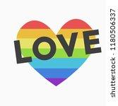 lgbt heart. heart isolated on...   Shutterstock .eps vector #1180506337