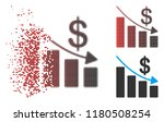 recession icon with face in... | Shutterstock .eps vector #1180508254