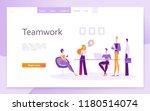 teamwork in the office ... | Shutterstock .eps vector #1180514074