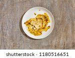 empty dirty white plate with... | Shutterstock . vector #1180516651