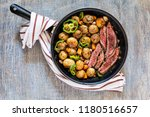 slices beef steak with medium... | Shutterstock . vector #1180516657