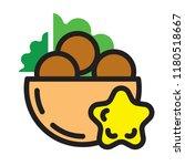 fresh falafel in pita logo.... | Shutterstock .eps vector #1180518667