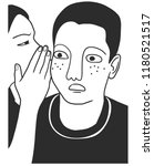 woman whispering in man ear. ... | Shutterstock .eps vector #1180521517