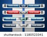 scoreboard broadcast graphic... | Shutterstock .eps vector #1180523341