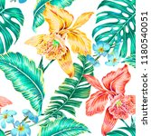 floral seamless vector tropical ... | Shutterstock .eps vector #1180540051