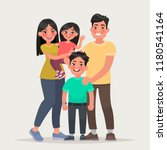 asian happy family. dad  mom ... | Shutterstock .eps vector #1180541164