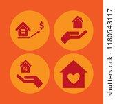residential icon. residential... | Shutterstock .eps vector #1180543117