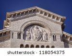 Saint Nicholas Cathedral, Monaco details - stock photo