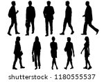 vector silhouettes men and... | Shutterstock .eps vector #1180555537