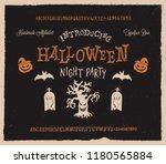 retro styled halloween font.... | Shutterstock .eps vector #1180565884