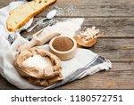slice of bread and ingredients... | Shutterstock . vector #1180572751