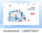 data analysis concept with... | Shutterstock .eps vector #1180573657
