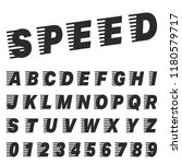 speed alphabet font template.... | Shutterstock .eps vector #1180579717