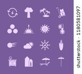 sunny icon. sunny vector icons... | Shutterstock .eps vector #1180581097